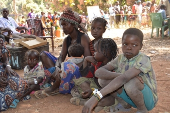 Newly arrived Central African refugees in Chad