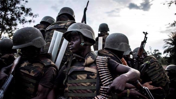 Soldiers from the Armed Forces of the Democratic Republic of Congo (FARDC)