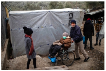 Refugee camp in Lesbos, Greece