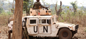MINUSCA Peacekeepers on Patrol in the Central African Republic