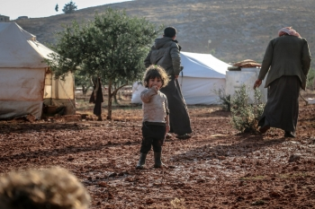 Young boy in Idlib, Syria