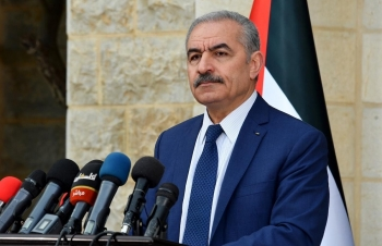 Palestinian Prime Minister Mohammad Shtayyeh in Ramallah (West Bank)