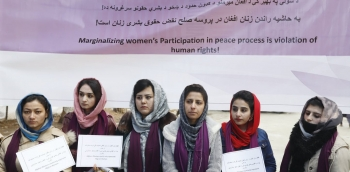 Women in Afghanistan asking for participation in peace processes