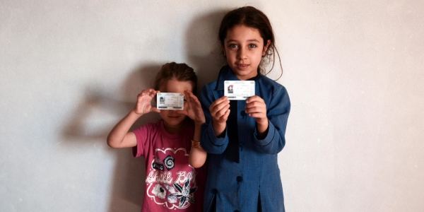 Children with their documentation