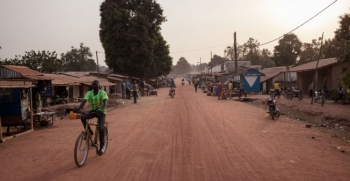 A street in Paoua,in northwestern Central African Republic, where thousands of civilians have fled following local armed conflict
