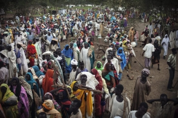 Crowded Refugee Camp in Maban County South Sudan