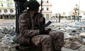 A soldier in the turbulent city of Bengahzi