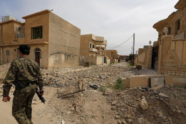 Streets in Tikrit (Iraq) on April 1, 2015 after the city had been recaptured form ISIS