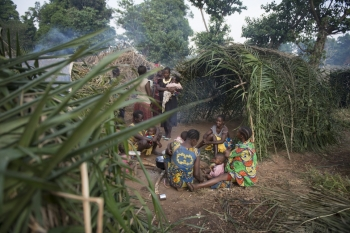Refugees from South Sudan shelter in Bitima, Democratic Republic of Congo.