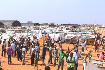 A displacement camp in northern Africa