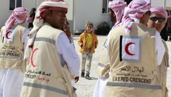 Emirates Red Crescent humanitarian workers