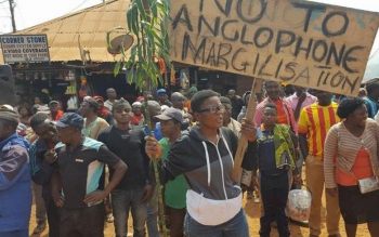 A protest for the rights of Anglophones