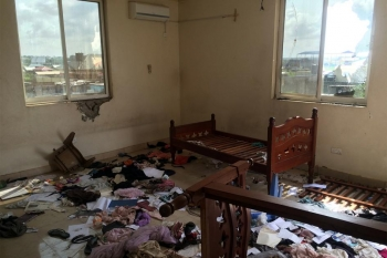 A looted bedroom in Juba, South Sudan