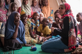 UNICEF's youngest Goodwill Ambassador Muzoon Almellehan in Chad