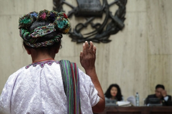 An indigenous Mayan Ixil woman testifies in trial of the tragedies that have occurred due to the genocide