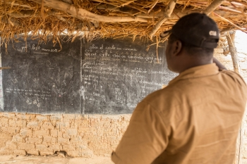 An abandoned school in Burkina Faso after an attack by an armed group