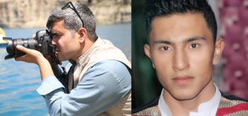 Faces of the murdered Zamir Amiri (left) and Shafiqullah Zabih (right)