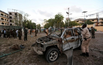 After the explosion at the checkpoint in Mogadishu, March 21, 2017