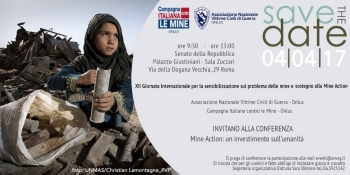 Mine Action: An Investment in Humanity An ANVCG Conference jointly organised with Campagna Italiana Contro le Mine