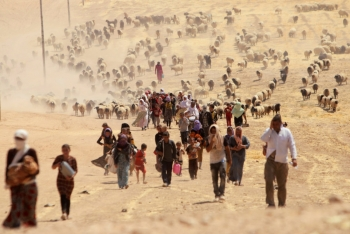 The Yazidi minority group returning back to Sinjar, Iraq