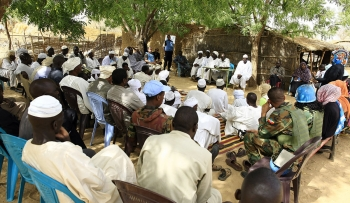 Community Consultation Forum in Sisi IDP camp, Mournei, West Darfur