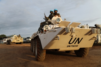 Peacekeepers of MONUSCO in the northeast Democratic Republic of the Congo