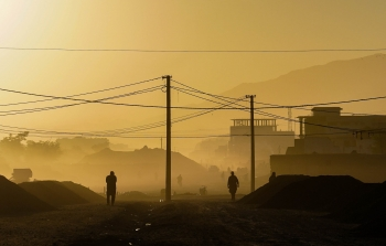 The city of Kabul, Afghanistan, in the morning