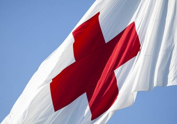 The flag of the International Red Cross