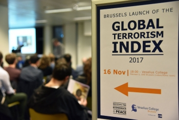 Launch of Global Terrorism Index 2017 in Bruxelles