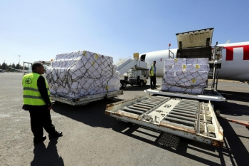Aid arrives in Yemen for first time since blockade implemented in November 2017