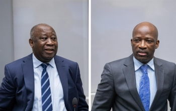 Laurent Gbagbo and Charles Blé Goudé at the hearing held before the ICC on January 15, 2019