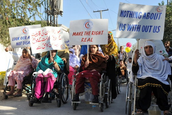 Afghan women with disabilities protest for their rights