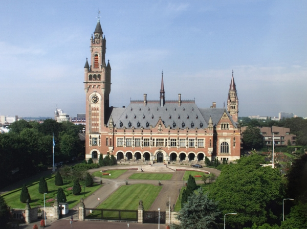 The Peace Palace, seat of the International Court of Justice, the Hague, Netherlands. The Court is the principal judicial body of the United Nations.