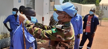 Bangladeshi medical contingent at the UN peacekeeping mission in the Central African Republic