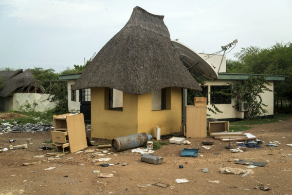 he Terrain Hotel compound was ransacked by South Sudanese troops, who went on to attack foreign aid workers, July 2016
