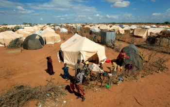 Largest refugee camp home to over 300,000 refugees. Men, women and children are forced to remain in the camp with limited opportunities