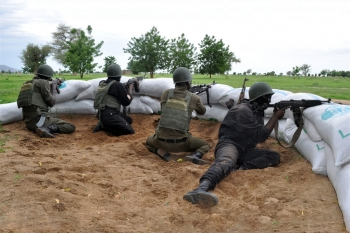 Cameroon military on the lookout for Boko Haram militants in the Far North Kolofata community, along the border with Nigeria.