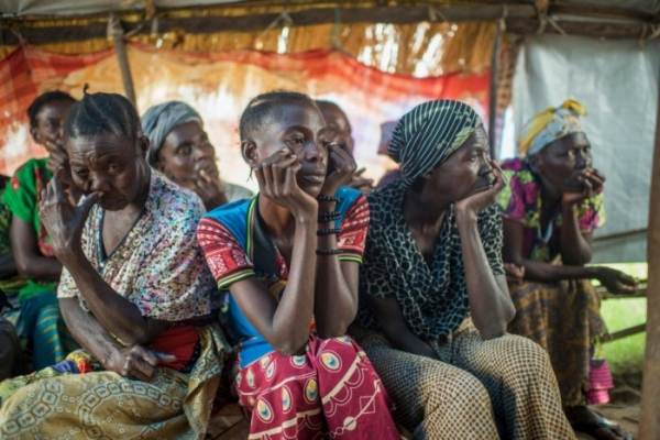 Internally displaced women in the Tanganyika province, DRC