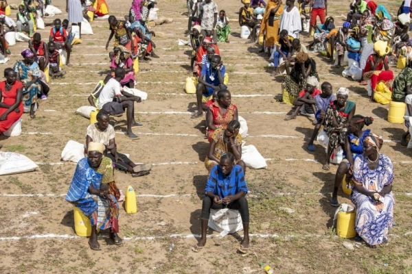 Measures of social distancing enacted by the UNHCR with the local authorities at Kakuma camp in Kenya