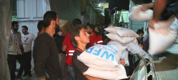 Food aid being delivered to rural Idlib