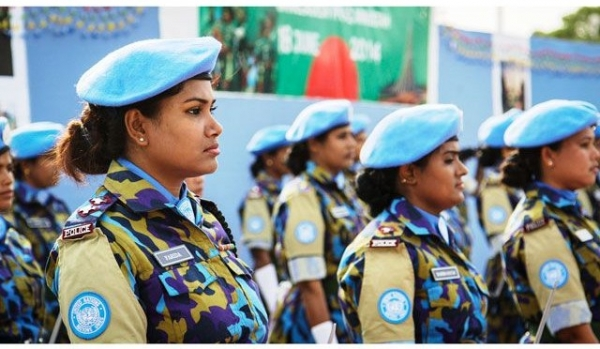 Female unit of police officers sent to Haiti after the 2010 earthquake as UN Peacekeepers
