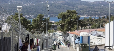 Refugee and Migrant families on Samos island, a location of Vathi reception centre in Greece