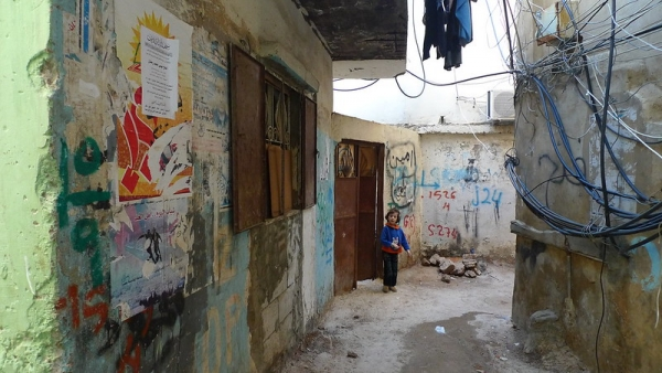 Bourj el-Barajneh refugee camp, one of the camps housing Palestinian refugees in Lebanon