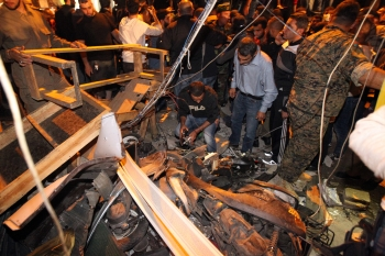 Twin suicide bombings rocked the Burj el-Barajneh area of south Beirut, killing 43 people and wounding over 200