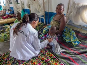 An MSF nurse working in Democratic Republic of Congo