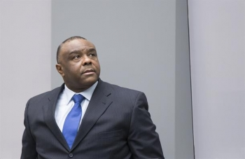 Jean-Pierre Bemba Gombo in the ICC Courtroom during the delivery of his sentence on 21 June 2016.