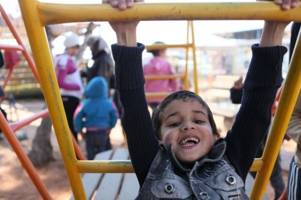 Child in a playground in Homs - Syria