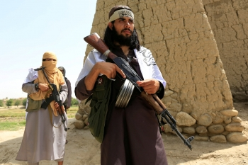 Armed Taliban fighters in Afghanistan.
