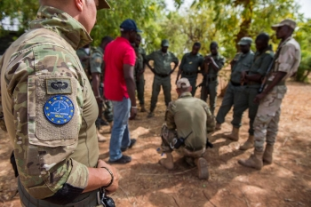 EUTM forces involved in a training session in Mali