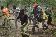 Sudanese displaced people on the run